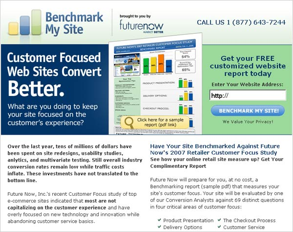 improve customer focus Landing pages Design Tips and Examples